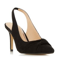Head Over Heels Charlise Knot Detail Slingback Courts Black