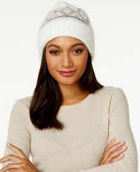 Charter Club Fair Isle Chenille Cuff Hat Only At Macy's Neutral