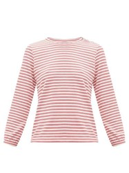 A.P.C. Striped Jersey Top Red White
