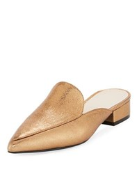 Cole Haan Piper Crackled Metallic Mule Gold