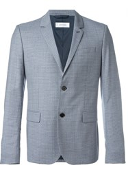 Carven Basket Weave Printed Jacket Blue