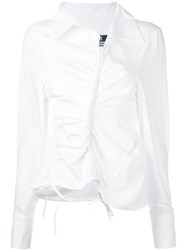 Jacquemus Asymmetric Shirt Women Cotton Polyester 40 White