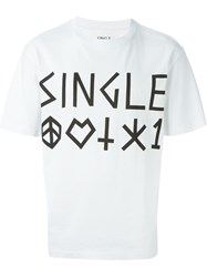 Single Dress Single 'Symbols' T Shirt White