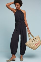 Anthropologie North Beach Jumpsuit Black