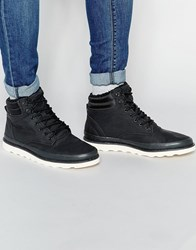 Pull And Bear Pullandbear Lace Up Boots In Faux Leather Black