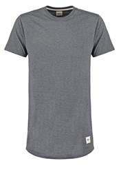 Wemoto Leeds Basic Tshirt Darkgrey Melange Mottled Dark Grey