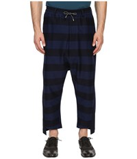 Vivienne Westwood Gipsy Stripes Twist Seam Samurai Pants Navy Stripe Men's Casual Pants