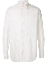 Forme D'expression Front Bib Button Up Shirt White