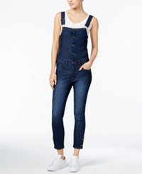 Rachel Roy Cropped Denim Overalls Only At Macy's Ultramarine Wash