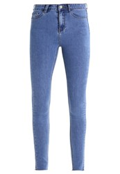 Glamorous Tall Slim Fit Jeans Stonewash Blue Denim
