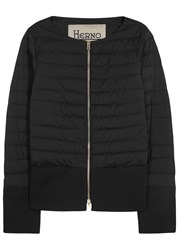 Herno Black Waterproof Shell And Cotton Jacket