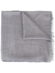 Cruciani Raw Edge Scarf Grey