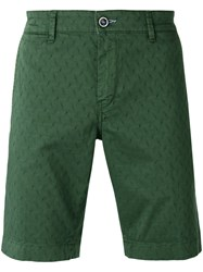 Re Hash Textured Shorts Men Cotton Spandex Elastane 38 Green