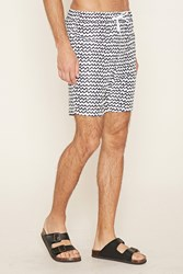 Forever 21 Abstract Print Swim Trunks