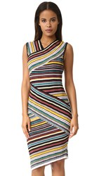 Milly Directional Stripe Sheath Dress Color Multi