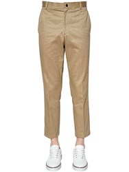 Thom Browne Light Cotton Twill Chino Pants Camel