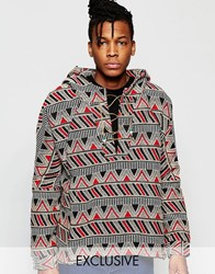 The New County Geo Tribal Hoodie Red