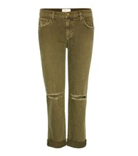 Current Elliott The Fling Boyfriend Jeans Green