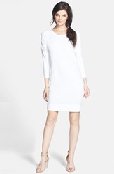 James Perse Women's Raglan Sleeve Sweatshirt Dress White