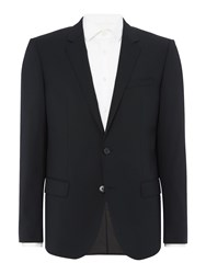 Hugo Men's Single Breasted Huge Genius Suit Jacket Black