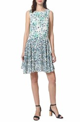 Donna Morgan Women's Fit And Flare Dress Turquoise Multi