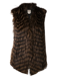 Haute Hippie Long Vest Brown