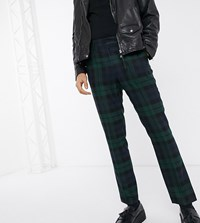 Heart And Dagger Super Skinny Trouser In Blackwatch Check Green