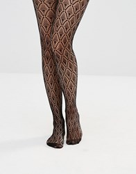 Asos Diamond Crochet Fishnet Tights Black