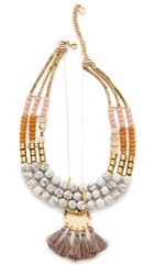 David Aubrey Samantha Necklace Gold Multi