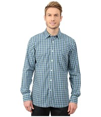 Nautica Long Sleeve Small Plaid With Pocket Estate Blue Men's Clothing Navy