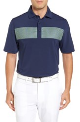 Bobby Jones Men's Xh20 Dempsey Stripe Stretch Golf Polo Summer Navy