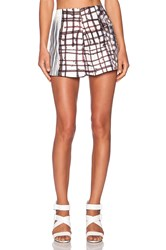 Clover Canyon Blossoming Plaid Shorts White