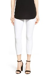 Women's Hue Checkered Capri Leggings White