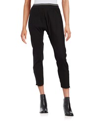 Dkny Solid Cropped Pants Black