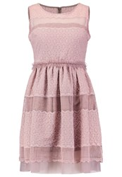 Laona Summer Dress Taupe Brown