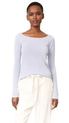 Tse Cashmere Ballet Neck Sweater Reflection Blue