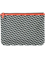Pierre Hardy Geometric Print Clutch Red