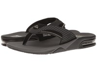 Reef Fanning Prints Grey Pinstripes Men's Sandals Gray