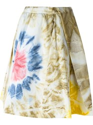 Dsquared2 Pleated Tie Dye Skirt Multicolour