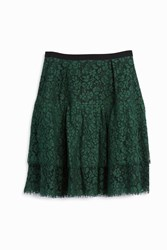 Erdem Aine Lace Ruffle Skirt Green