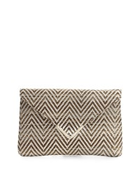 Elaine Turner Designs Elaine Turner Bella Raffia Envelope Clutch Bag Neutral Woven