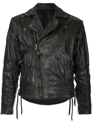 Fake Alpha Vintage 1980S Langlitz Leather Jacket Black
