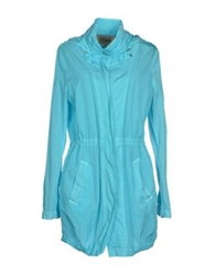 Alviero Martini 1A Classe Full Length Jackets Turquoise