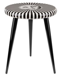 Fornasetti 'Sole' Stool Black