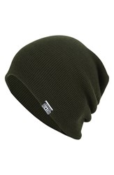 Men's Converse Slouchy Rib Knit Beanie Green Collard