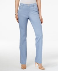 Lee Platinum Petite Gwen Colored Wash Straight Leg Jeans Only At Macy's Periwinkle
