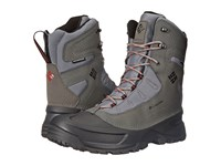 Columbia Snowblade Plus Waterproof Charcoal Bright Red Men's Cold Weather Boots Gray