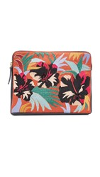 Lizzie Fortunato Safari Clutch Cuban Hibiscus