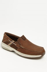 Men's Dunham 'Windward' Slip On Brown