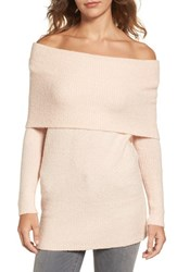 Trouve Women's Off The Shoulder Tunic Pink Hero